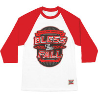 Bless The Fall Men's  Hollow Bodies Baseball Jersey White Rockabilia