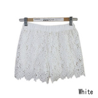 Summerland Sexy Ladies Sweet Crochet Lace Shorts Skorts Sexy Short Pants Leggings = 1706172740