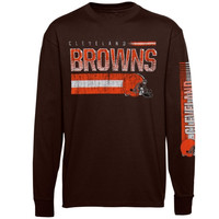 Cleveland Browns Youth Rewind Forward Long Sleeve T-Shirt - Brown