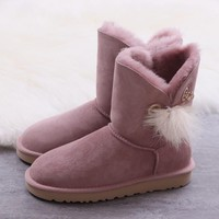 Women's UGG snow boots Mid-tube women's boots DHL _1686248855-392