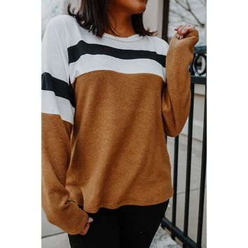 Made My Impression Top - Camel