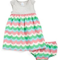 Infant Girl's Stem Baby Cotton Dress & Bloomers,