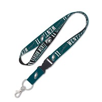 CARSON WENTZ #11 PHILADELPHIA EAGLES LANYARD DETACHABLE BUCKLE NEW WINCRAFT
