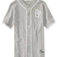 PS from Aero  Kids' Short-Sleeve Activate Button-Front Baseball Shirt
