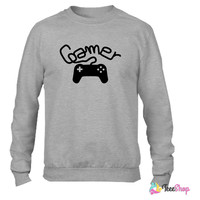 Gamer player controller console Crewneck sweatshirtt