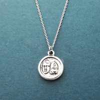 Vintage, Coin, Antique, Silver, Necklace, Birthday, Best friends, Sister, Gift, Jewelry