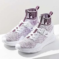 Puma Ignite Evoknit High Top Shoes Women Men  Sneakers B-CSXY White&Purple