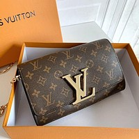 Louis Vuitton LV Monogram Canvas Flip Coin Purse Card Holder Bag