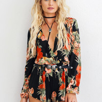 Blooming On Floral Romper