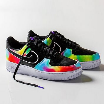 Nike Air force 1 Low Fashion New Hook Women Men Running Multicolor Shoes
