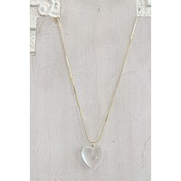 CNJ Vintage Frosted Heart Necklace