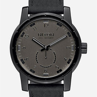 Nixon Patriot Leather Watch Black One Size For Men 26472210001