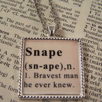 Harry Potter Snape Dictionary Necklace by imaginationemporium