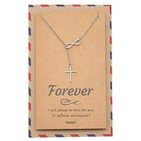 Christ Infinity Cross Necklace, Christian Jewelry, 925 Sterling Silver