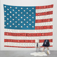 USA Wall Tapestry by Bianca Green