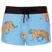 Tiger Print Runner Short - Urban Education - Clothing - Topshop