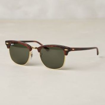 Ray-Ban Club Master Classic Sunglasses Brown Motif One Size Eyewear