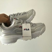 """FILA"" Women All-match Casual Fashion Letter Thick Bottom Sneakers Running Shoes"