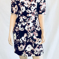 VTG DSHE 60's Styled Cocktail Dress, Floral, Bow Waist, Size 9, 40,  Antique Alchemy