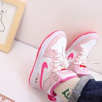 Nike Child Girls Boys shoes Children boots Kids  Fashion Casual Sneakers Sport Shoes