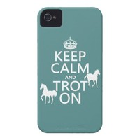 Keep Calm and Trot On - Horses - All Colors iPhone 4 Cover from Zazzle.com