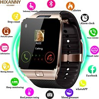 Hebrew Bluetooth Smart Watch 2G SIM TF Card For Iphone