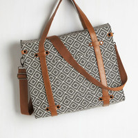 Best Seller Camp Director Tote in Diamonds by ModCloth