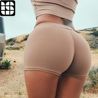 LISM 2018 Compression Elastic Push Up Yoga Shorts Running Shorts Women Gym Short Slim Fit Shorts Fitness Workout Activewear