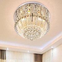 Crystal Surface Mounted LED Ceiling Light