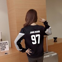 kpop BTS Album sweat Bangtan Boys baseball long sleeve jacket high quality hoody k-pop autumn winter velvet academy wind coat