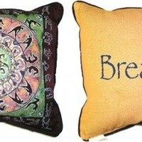 Yoga and Breathe - Double-Sided - Pillow