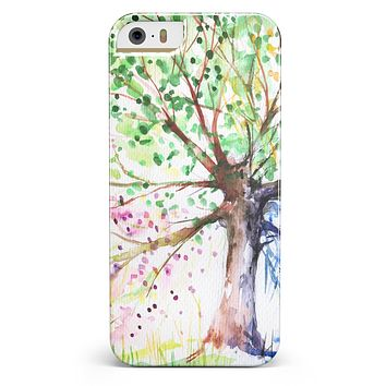 Abstract Colorful WaterColor Vivid Tree iPhone 5/5s or SE INK-Fuzed Case