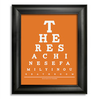500 Days Of Summer Eye Chart, There's A Chinese Family In Our Bathroom, 8 x 10 Giclee Print BUY 2 GET 1 FREE