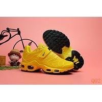 HCXX 19Aug 541 Nike Air Max Plus TN Kid Velcro Sports Fashion Air Cushion Damping Running Shoes Yellow
