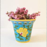 Turquoise Pottery Planter
