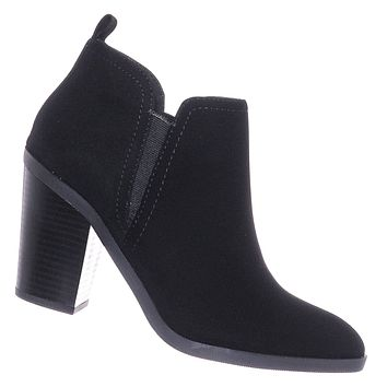 Sense Chunky Heel Chelsea Boots - Dressy Slide In Chelsea Ankle Bootie
