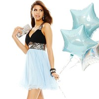 Prom 2014 Blue Crushes Colorblock Dress Look