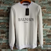 BALMAIN Women Fashion Casual Long Sleeve Sport Top Sweater Pullover Sweatshirt-1