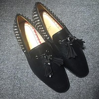 Christian Louboutin CL Loafer Style #2333 Sneakers Fashion Shoes Online