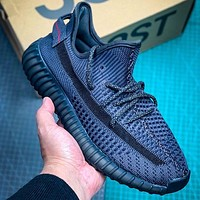 Adidas YEEZY Boost 350V2 hollow coconut limited edition sneakers Dark Blue