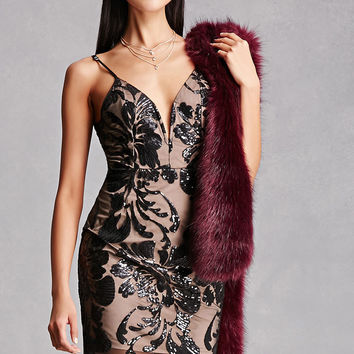 Sequined Overlay Cami Dress