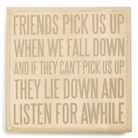 Primitives by Kathy 'Friends Pick Us Up' Box Sign