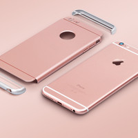 For apple iphone 6 6S 6 plus 6S plus 3in1 Elegant luxury Ultra Slim full body protective polished PC hard shockproof case cover