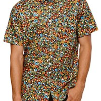 Lost Flow Short Sleeve Woven Shirt - Mens Shirts - Multi -