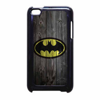 Batman Logo On Wood iPod Touch 4th Generation Case