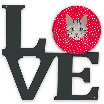 Egyptian Mau Cat Love Metal Wall Artwork LOVE CK5114WALV