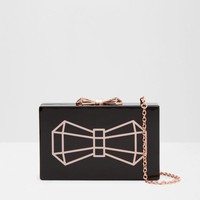 BOWWE Bow glitter clutch bag (Black)