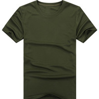 Olive Green Quick Drying Cycling T-Shirt