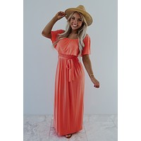 Never Say Never Maxi: Coral