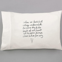 Beside You Lyrics - 5SOS Hand Pulled Sublimated Pillow Case Set for Double or Queen Sized Bed